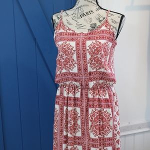 Red and White Pixley Dress